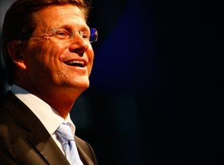 he German Deputy Chancellor and Foreign Minister, Guido Westerwelle