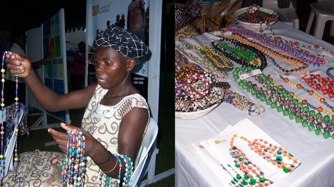 Women of Kireka showcasing their already finished products