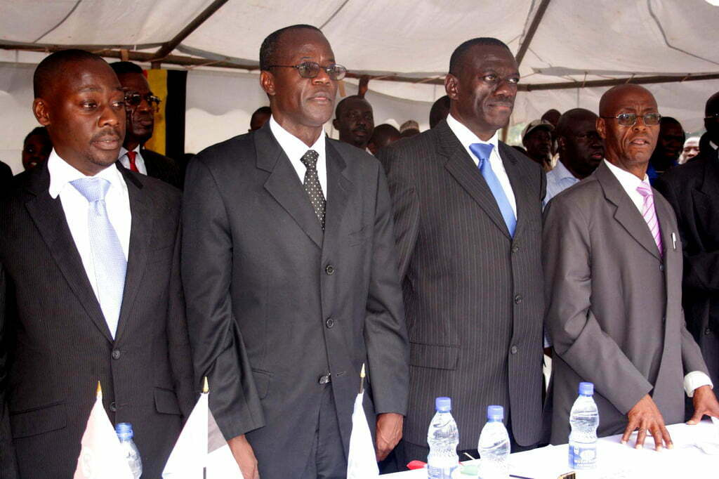 Micheal Mabikke, Hussein Kyanjo, Kiiza Besigye and Prof. Kigongo. The four remaining bulls in the IPC.