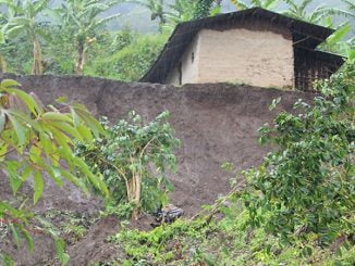 The rains that have pounded Mount Elgon have devastated several homes resulting to mudslides. Photo by Andrew Green.