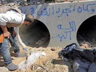Gaddafi's last home was this water tunnel.