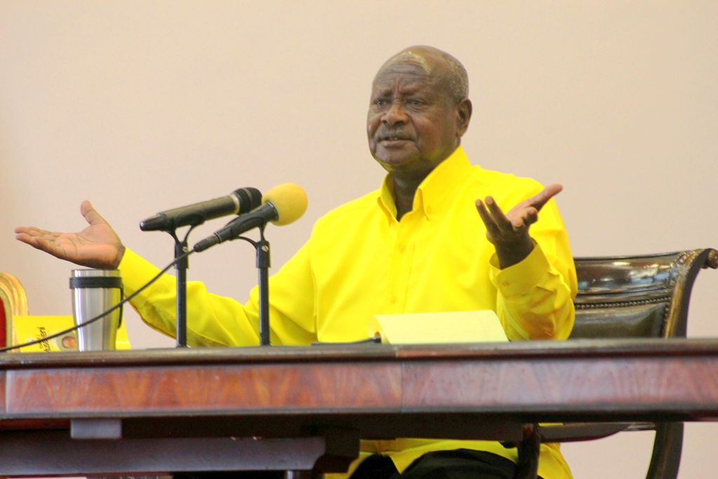 President Museveni press briefing