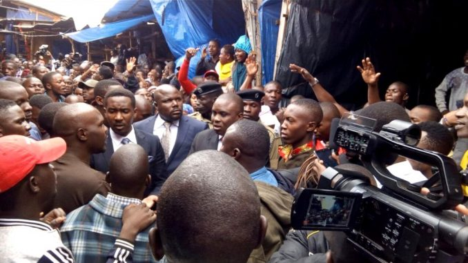 Kampala Lord Mayor, Erias Lukwago together with three other MPs arrested at the Park Yard