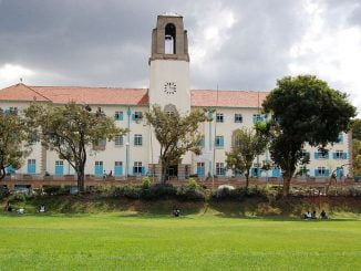 Makerere University, Main Administration Bloc. Courtesy Photo.