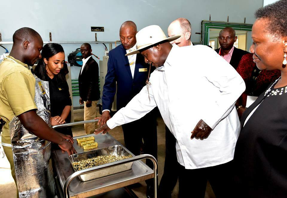 President Museveni launch gold refinery in Uganda