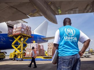 UNHCR airlifts aid to Uganda
