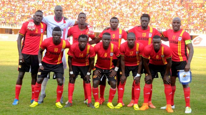 Uganda Cranes team which qualified for the 2017 Africa Cup of Nations.