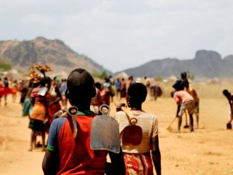 Workers going to work in Karamoja, Uganda. Courtesy Photo