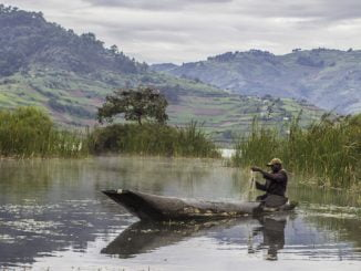 Fisherman at Lake Bunyonyi