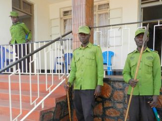 Some of Rwenzururu Royal Guards in Kasese. Courtesy Photo/Moris Mumbere.