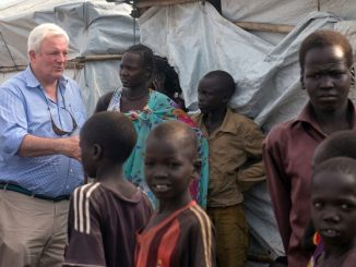 United Nations Emergency Relief Coordinator Stephen O'Brien in South Sudan