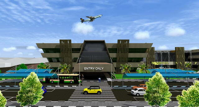 Artistic impression - Entry section of Entebbe International Airport