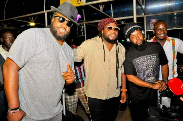 Morgan Heritage arrival at Entebbe International Airport