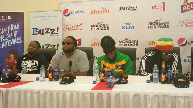Morgan Heritage band at a press conference at Protea Hotel, Kampala - Uganda.