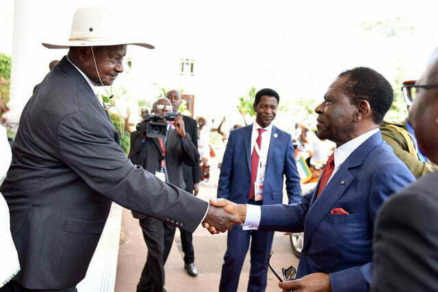 President Museveni and E-Guinea President H.E Teodoro Obiang Nguema during a State Visit to Uganda