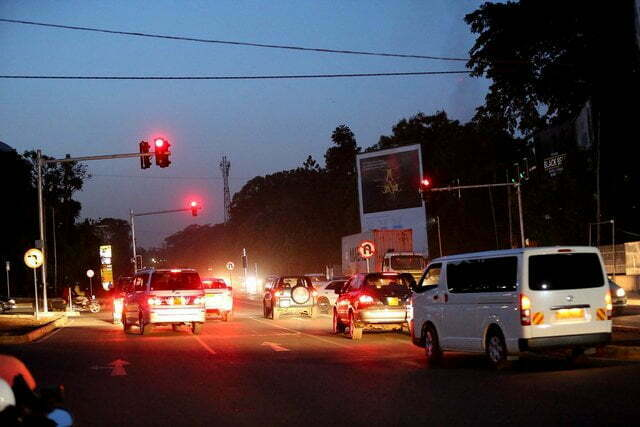 Traffic Lights in Kampala installed with cameras