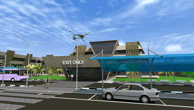 Artistic impression - Exit section of Entebbe International Airport