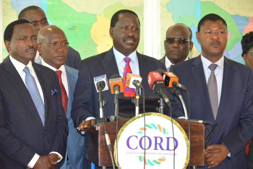 Former Prime Minister Raila Odinga insists he won the 2007 and the just concluded 2013 General Elections only to be rigged by agents of status quo who fears his leadership style. Courtesy Photo.