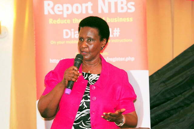 Minister of Trade Industry and Cooperatives Amelia Kyambadde