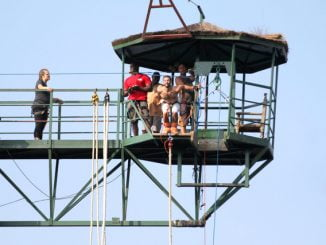 Bungee Jumping: A thrill on River Nile