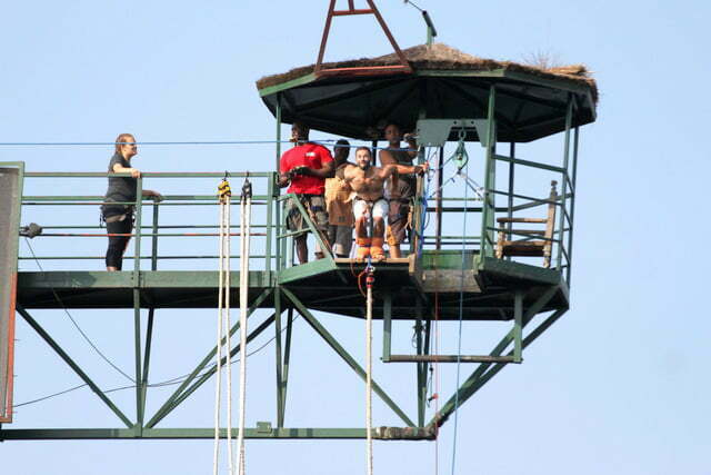 Bungee Jumping at the River Nile