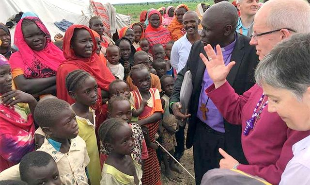 Archbishop Welby tells South Sudan refugees to hang unto God, hope