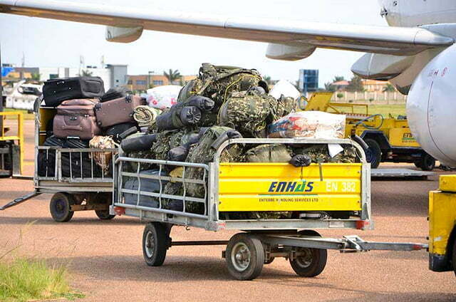 Luggage of the fallen soldiers returned home. Courtesy Photo.