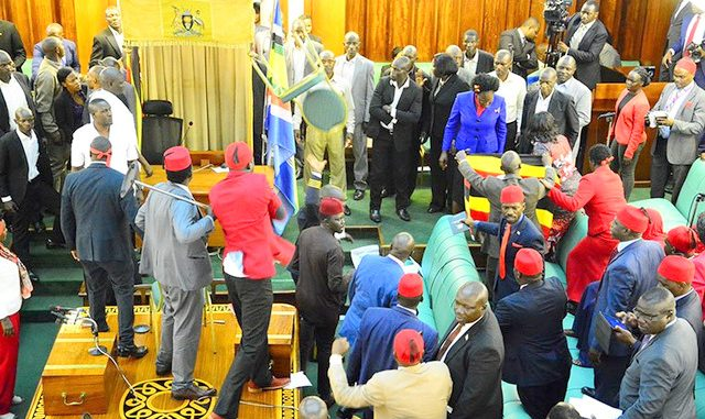 Uganda's opposition boycott parliament until suspended colleagues return