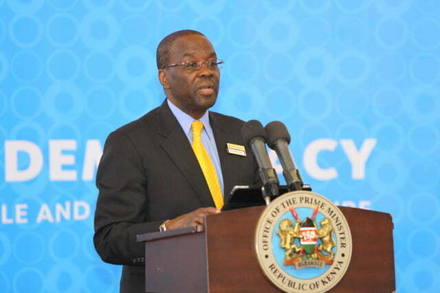 Former Kenya Chief Justice Willy Mutunga