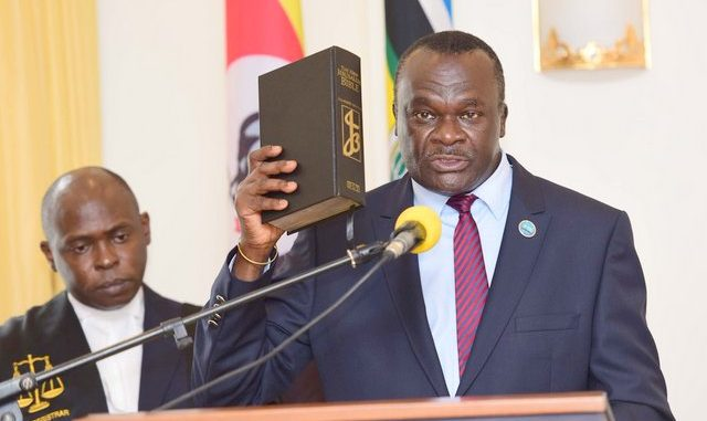 Justice Owiny Dollo sworn in as new Uganda's Deputy Chief Justice