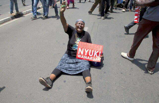 NASA opposition supporters in protest
