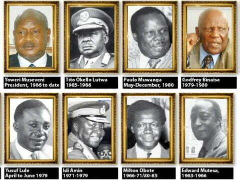 Uganda Presidents since 1962
