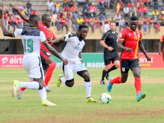 A controversial end to Uganda Cranes's 0-0 draw at home to Black Stars of Ghana in Group E of World Cup qualifying has led the Black Stars lodging a protest with Fifa over refereeing decisions during the match. Courtesy Photo.