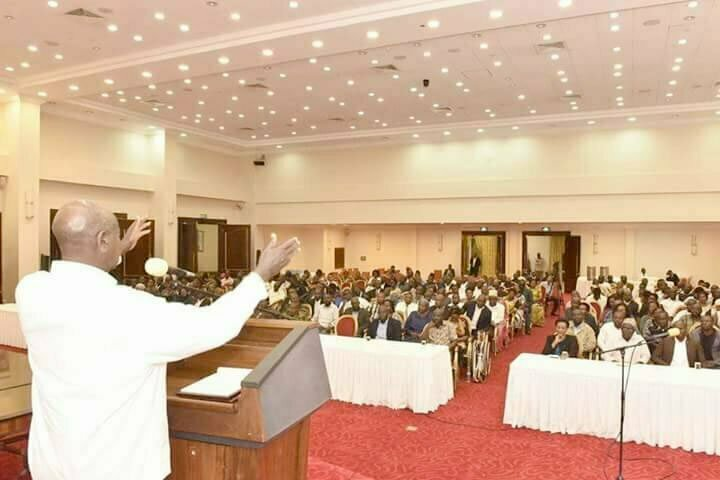 Museveni addressing KCCA councillors