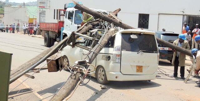 Umeme rotten pole accident
