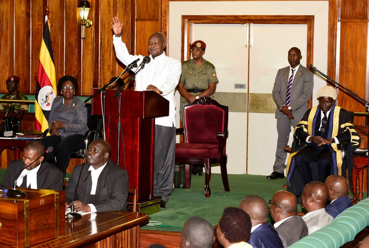 President Yoweri Museveni officially opens the EALA session in Kampala.
