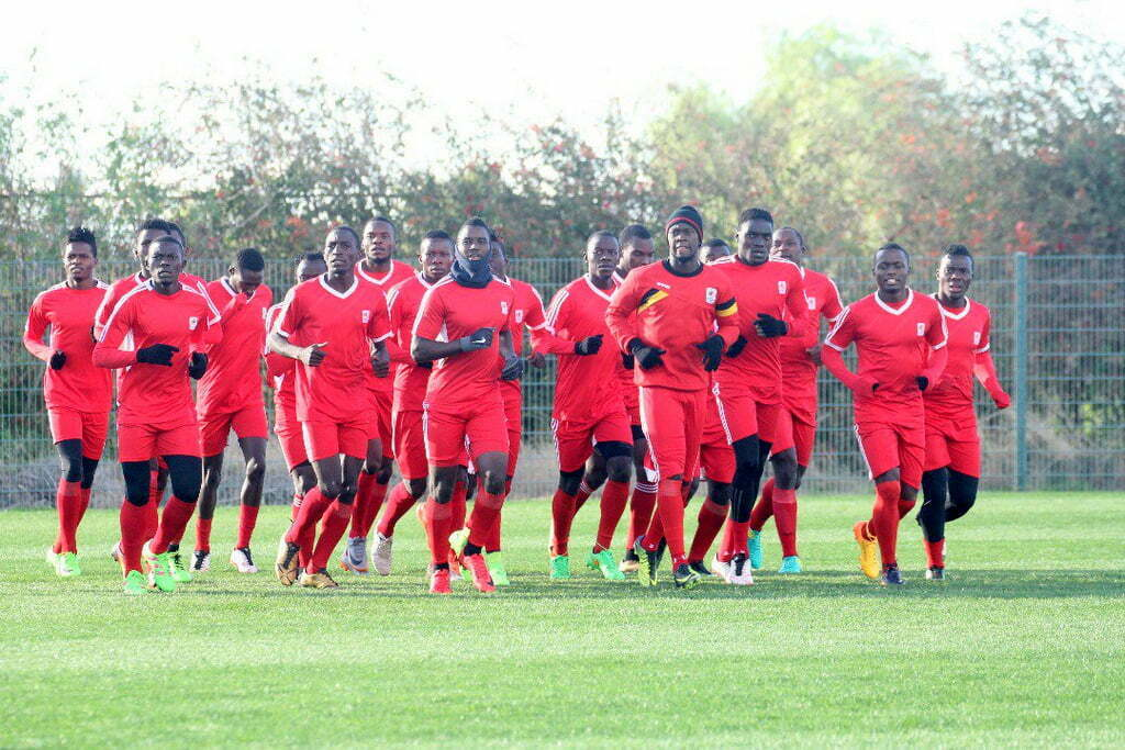 Uganda Cranes team training in Marrakech, Morocco