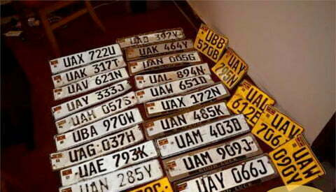Ugandan teenager held over theft of 50 number plates
