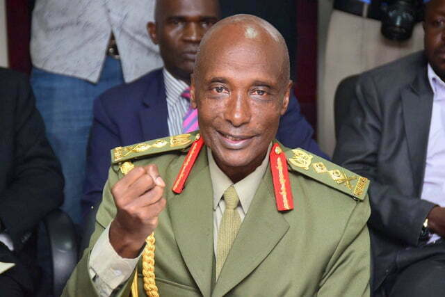 General Kale Kayihura hands over office