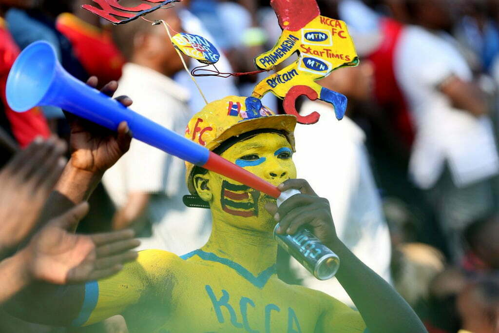 KCCA FC fans cheering the team last Saturday in the game against St. George at the StarTimes Stadium, Lugogo