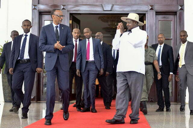 Museveni and Kagame at State House Entebbe