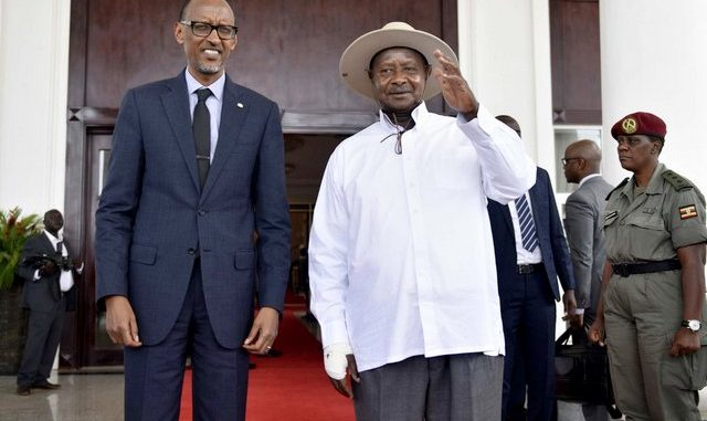 Image result for yoweri museveni and paul kagame