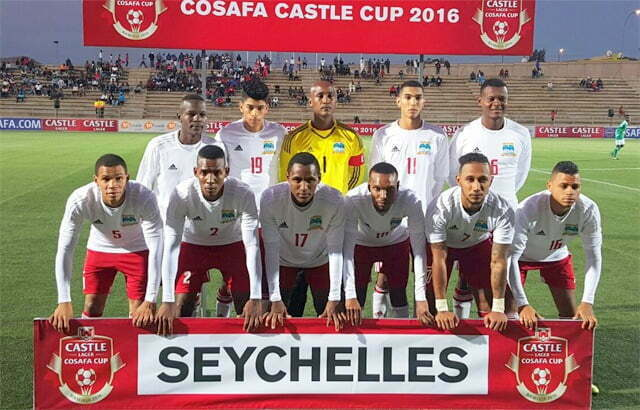 The Seychelles team during the 2016 Castle Lager Cup