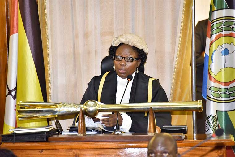 Speaker Rebecca Kadaga presiding over passing of age limit bill