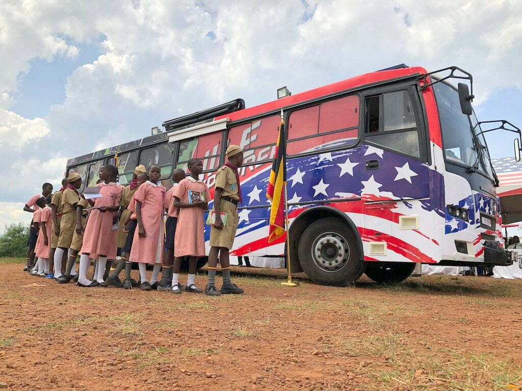 The United States government has launched the U.S Mission's first mobile library project known as the Nile Explorer Bus