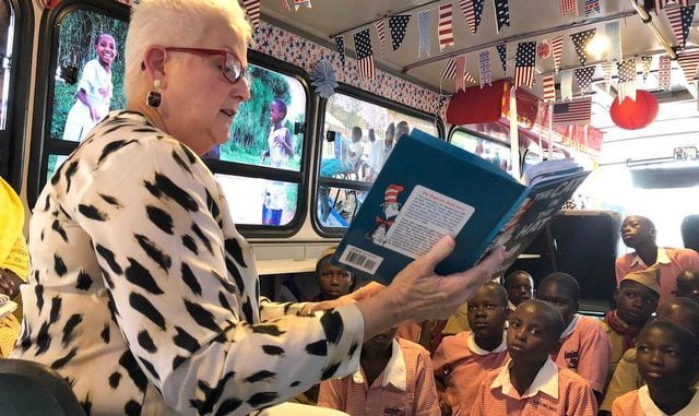 U.S. launches mobile library for Ugandan learners