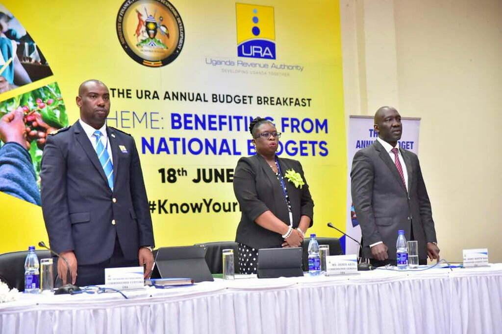 The Budget Breakfast themed 'Benefit from your budgets' rhymes with the national theme of 'Industrialization for job creation and shared prosperity' and is being held in 5 places simultaneously namely Kampala , Masaka, Arua, Fort Portal and Jinja