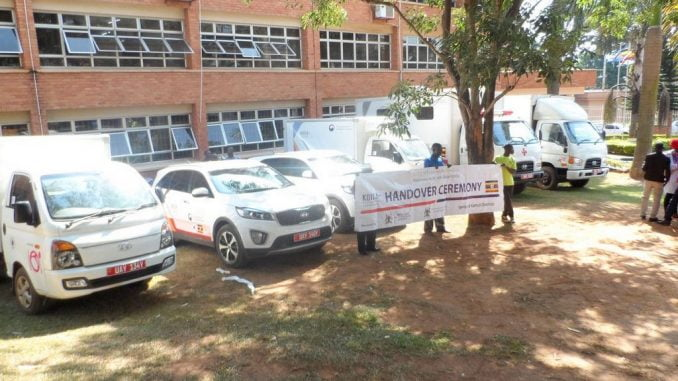 KOICA donates vehicles to Uganda's Health Ministry