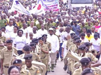 Hundreds turn up for Museveni's national day of physical activity launch