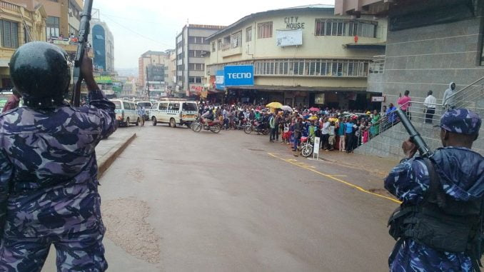 Police battles social media tax protestors in Kampala